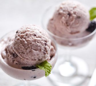 Blackberry and Lavender Ricotta Ice Cream