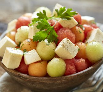 Marinated Mozzarella Melon Salad