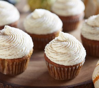 Pumpkin Cupcakes with Ricotta Frosting