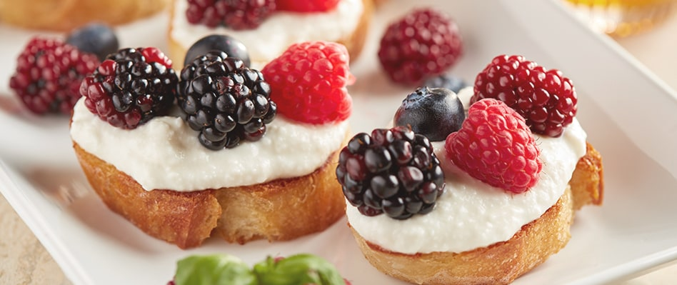 Ricotta Berry Crostini