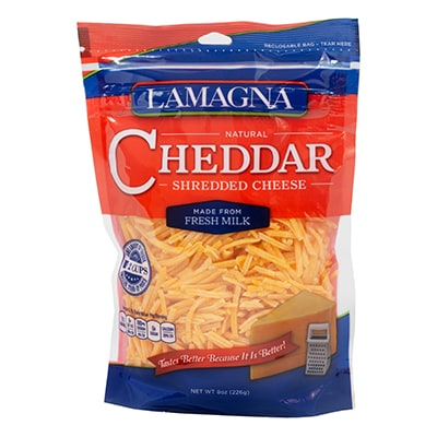 8 oz. Shredded Cheddar
